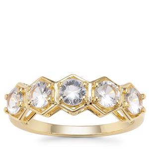 Ceylon White Sapphire Ring in 9K Gold 1.42cts