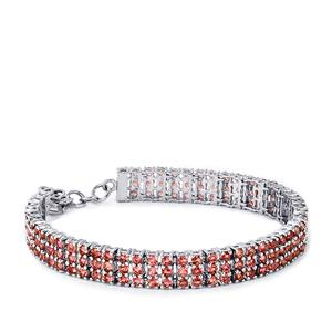 Pink Tourmaline Bracelet in Sterling Silver 9.24cts