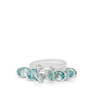 7ct Sky Blue Topaz Sterling Silver Aryonna Ring