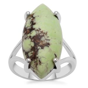 Queensland Chrysoprase Ring in Sterling Silver 12.50cts
