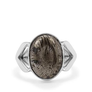 Feather Pyrite Ring in Sterling Silver 11.50cts