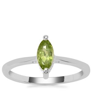 Red Dragon Peridot Ring in Sterling Silver 0.59ct