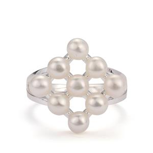 Kaori Cultured Pearl Ring in Sterling Silver (4mm)