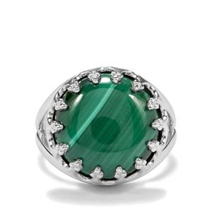 12.70ct Malachite Sterling Silver Ring