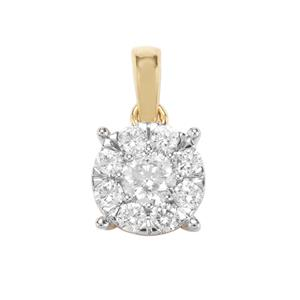 Canadian Diamond Pendant in 18K Gold 0.51ct