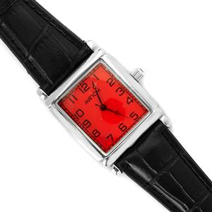 Gemporia Vintage Garnet Timepiece - Hot Red Dial with Black Strap
