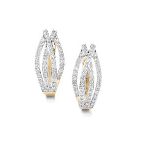 Argyle Diamond Earrings in 9K Gold 1ct
