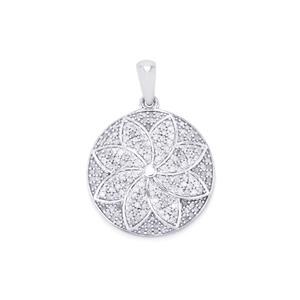 Diamond Pendant in Sterling Silver 1.40ct