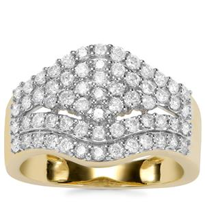 Argyle Diamond Ring in 9K Gold 1ct