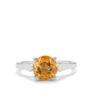 Rio Golden Citrine Ring in Sterling Silver 1.76cts