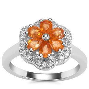 Tulelei Ring with White Zircon in Sterling Silver 1.78cts