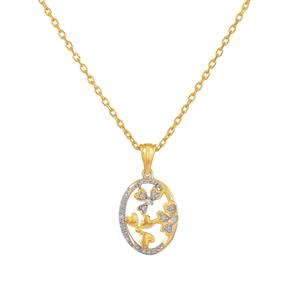 1/10ct Diamond Necklace in Gold Plated Sterling Silver