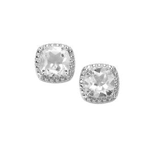 White Topaz Hollywood Earrings in Sterling Silver 7.50cts