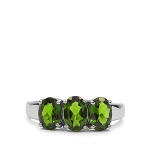 Chrome Diopside Ring in Sterling Silver 2.33cts