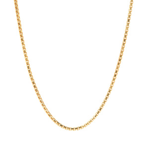 "24"" Midas Tempo Diamond Cut Round Box Chain 2.32g"