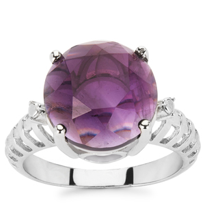 5.59ct Zambian Amethyst Sterling Silver Ring
