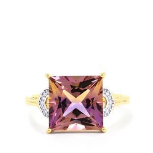 Anahi Ametrine Ring with Diamond in 9K Gold 4.67cts