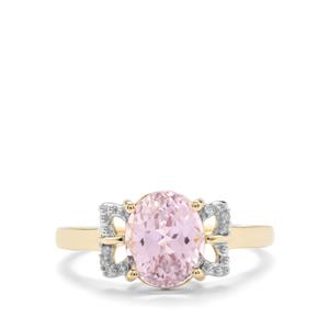 Mawi Kunzite Ring with Diamond in 9K Gold 2.53cts