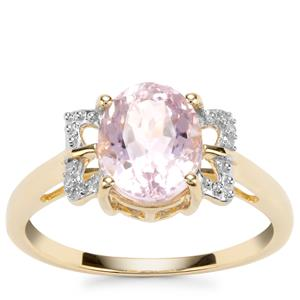 Mawi Kunzite Ring with Diamond in 10K Gold 2.53cts