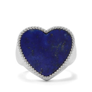 Sar-i-Sang Lapis Lazuli Ring in Sterling Silver 13cts