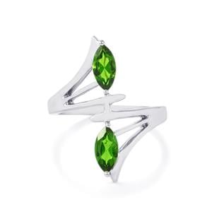 1.05ct Chrome Diopside Sterling Silver Ring