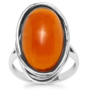 American Fire Opal Ring in Sterling Silver 9.75cts