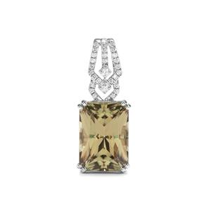 Csarite® Pendant with Diamond in Platinum 950 8.38cts