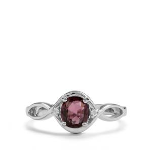 Burmese Multi-Colour Spinel & Diamond Sterling Silver Ring ATGW 0.66cts