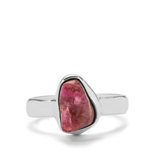 Burmese Ruby Ring in Sterling Silver 6.46cts
