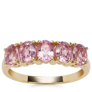 Sakaraha Pink Sapphire Ring in 9K Gold 2.26cts