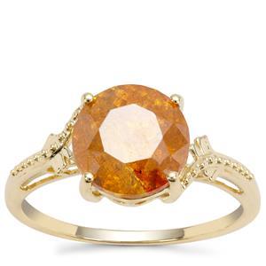 Aliva Sphalerite Ring in 9K Gold 3.83cts