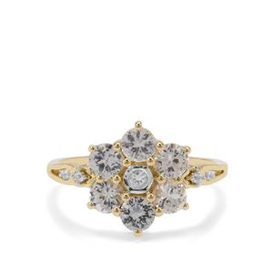 Ceylon White Sapphire Ring in 9K Gold 1.53cts