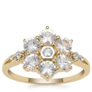 Ceylon White Sapphire Ring in 9K Gold 1.53cts