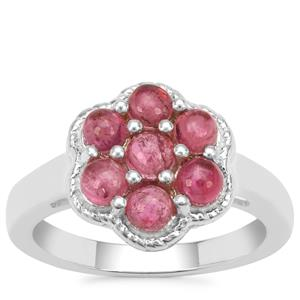 Pink Tourmaline Ring in Sterling Silver 1.33cts