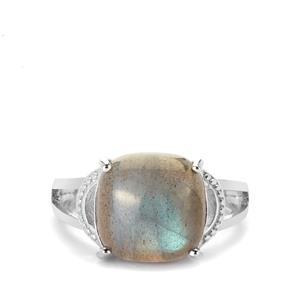 5.81ct Paul Island Labradorite Sterling Silver Ring