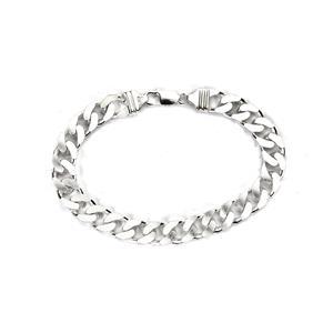 "9"" Sterling Silver Altro Curb Bracelet 37g"