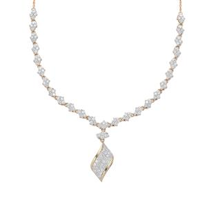 Canadian Diamond Necklace in 9K Gold 1.50cts