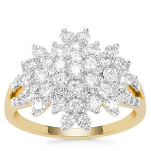 Argyle Diamond Ring in 9K Gold 1.25cts