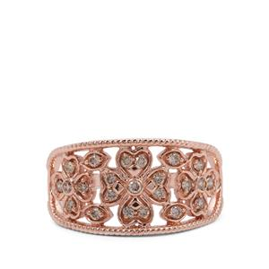 Argyle Diamond Ring in 9K Rose Gold 0.26ct