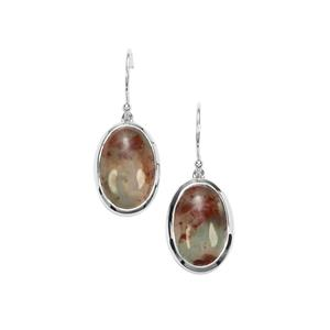 Aquaprase™ Earrings in Sterling Silver 17.04cts