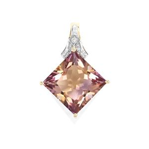 Anahi Ametrine Pendant with Diamond in 10k Gold 7.14cts