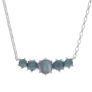 Blue Moonstone Necklace in Sterling Silver 3.60cts