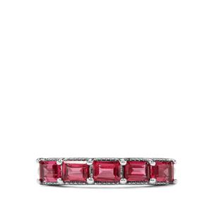 1.47ct Rajasthan Garnet Sterling Silver Ring