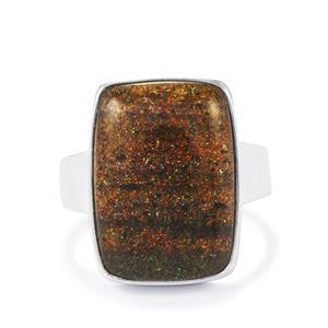 9ct Andamooka Opal Sterling Silver Ring