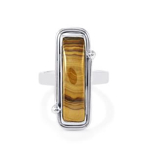 Schelm Blend Sphalerite Ring in Sterling Silver 12.50cts