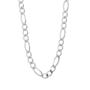 "18"" Sterling Silver Couture Diamond Cut Figaro Chain 3.17g"