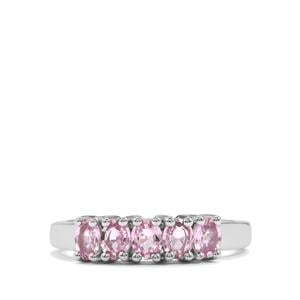Sakaraha Pink Sapphire Ring in Sterling Silver 1.08cts