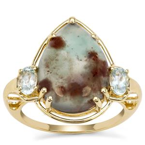 Aquaprase™ Ring with Aquaiba™ Beryl in 9K Gold 6.72cts
