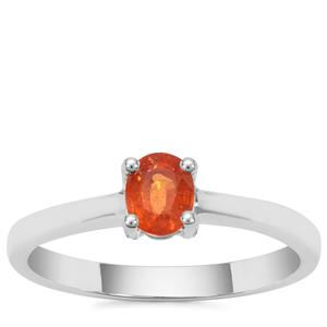 Mandarin Garnet Ring in Sterling Silver 0.72ct