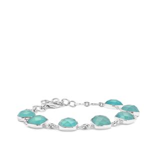 27.97ct Aqua Chalcedony Sterling Silver Aryonna Bracelet